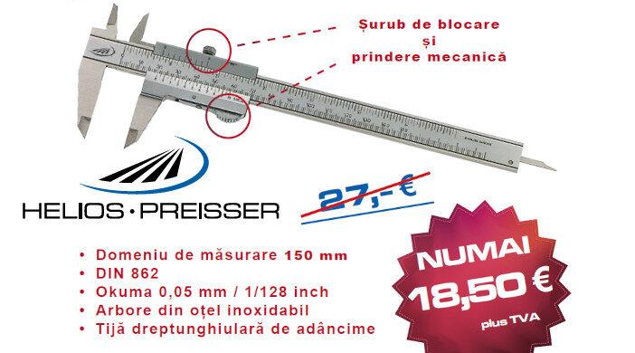 Șubler mecanic cu diviziuni (vernier) DUO-FIX - promoție Helios-Preisser
