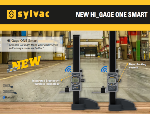 Sylvac - Hi_Gage One Smart Promotion
